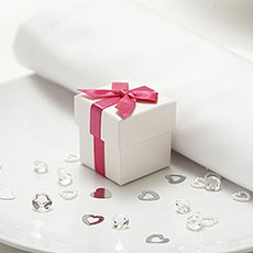 Luxury Ribbon Favour Box Pack 10