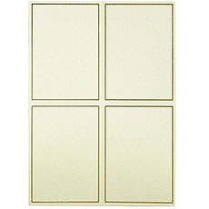 Ivory Gold Border Menu or Small Table Planner Card pack