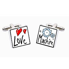 Love Machine Ceramic Cufflinks