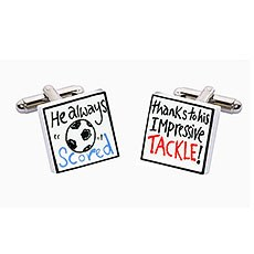 Thanks to His Tackle Ceramic Cufflinks