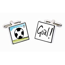 Football Goal Ceramic Cufflinks