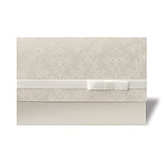 Damask Ribbon Invitation