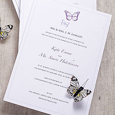 Elegant Butterfly Invitation