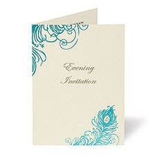Feathers Evening Invitation