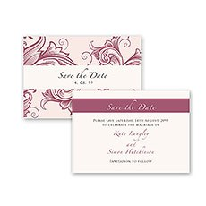 Filigree Scroll Wallet Save the Date