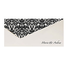 Fleur De Lys Pearlised Wallet Invitation