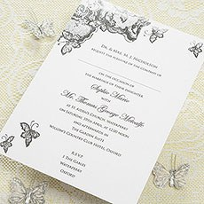 Lace Butterfly Invitation