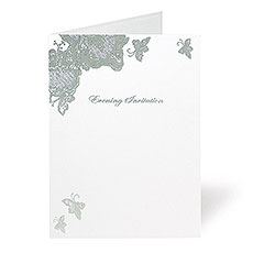 Lace Butterfly Evening Invitation
