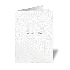 Precious Damask Thank You Card