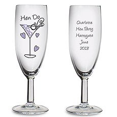 Personalized Hen Do Toast Flute