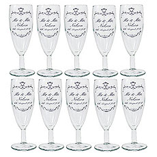 Personalized Ornate Swirl Wine Glass Wedding Favors