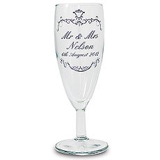 Personalized Ornate Swirl Toast Flute