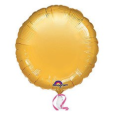 Gold Round Foil Balloon Pack