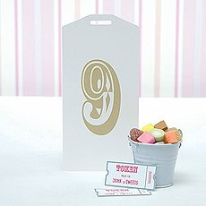 White & Gold Carnival Table Numbers 1-15