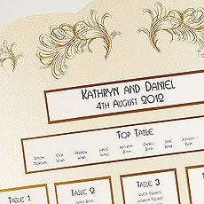 Pearl/Gold A2 Table Planner Kit