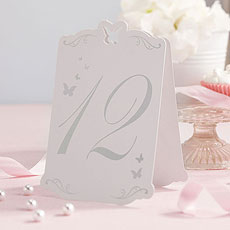 Butterfly Table Numbers
