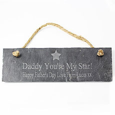 Star Motif Slate Door Plaque
