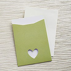 Sage Eco Chic DIY RSVP/TY/STD/Evening Invitation Kit - 10 Pack