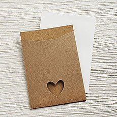 Brown Eco Chic DIY RSVP/TY/STD/Evening Invitation Kit - 10 Pack
