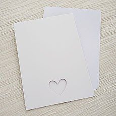 White Eco Chic A5 Folded OOS/MENU Kit - 10 Pack