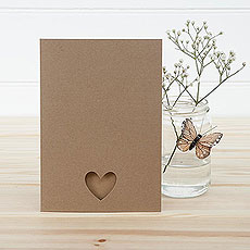 Brown Eco Chic A5 Folded OOS/MENU Kit - 10 Pack
