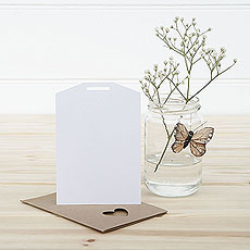 White Eco Chic Plain Small Insert Tag - 10 Pack