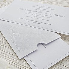 White Precious Wallet Invitation DIY Kit - 10 Pack