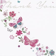 Open Thank You Cards - 6 Pack