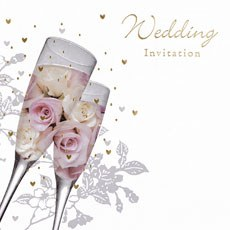 Traditional Wedding Invitation Cards - 6 Pack