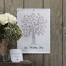 Pink Finger Print Tree A3 Size