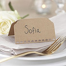 Kraft Place Cards - 10 Pack