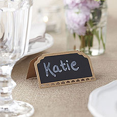 Kraft Place Cards with Chalkboard - 10 Pack