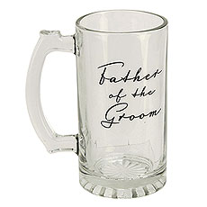 Amore Glass Tankard - Father of the Groom 400 ml