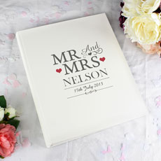 Mr & Mrs Personalized Traditional Photo Album