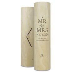 Mr & Mrs Engraved Wine Cylinder