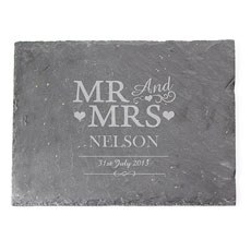 Mr & Mrs Personalized Slate Board