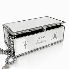 Personalized Girls Ballerina Jewelry Box