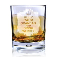 Personalized Keep Calm Bubble Glass