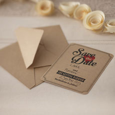 Vintage Affair - Save the Date Cards - 10 Pack