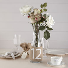 Vintage Affair - Hessian Table Numbers