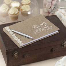 Vintage Affair - Hessian Guest Book