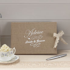 Vintage Affair - Bride & Groom Advice Book