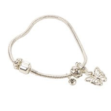 Juliana Wings of Love Charm Bracelet & Butterfly