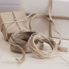 Natural Parcel Twine in Hessian.