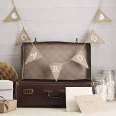 Hessian 'Cards' Bunting
