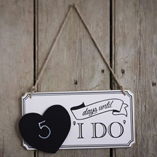 """I Do"" Countdown Sign"