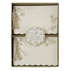 Elegant Gold Floral Place Cards