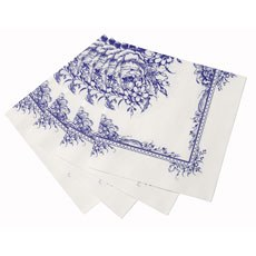 Blue Paper Luncheon Napkins