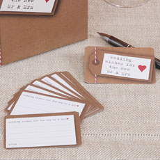 Just My Type Kraft Wedding Wishing Well Stationery Cards - 25 Pack