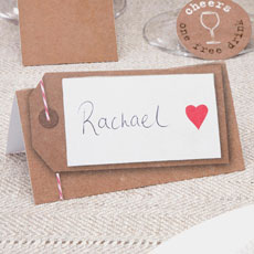 Just My Type Kraft Place Cards - 50 Pack